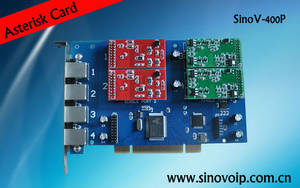 Wholesale home voip phone: 4ports Analog Card,With FXS_100 and FXO_100 Modules