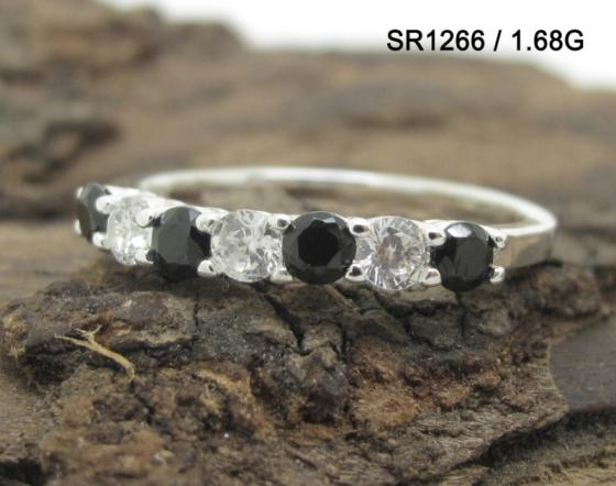 Sell Silver Lady Finger Ring Prong Setting AAA CZ