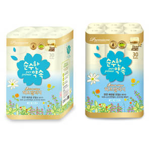 Wholesale Toilet Tissue: Bathroom Tissues [PurePromise -Lemonbalm 30m 30rolls-]