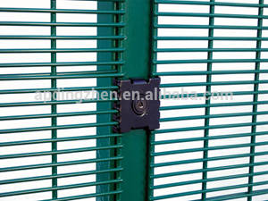 Wholesale anti climb fence : Galvanized Anti-Climb Prison & Military 358 High Security Fence