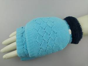 Wholesale lace knitting machine: Flip Top Glove with Eyelet Diamond Pattern