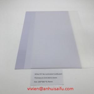 Wholesale Paper Crafts: White PET No-Laminated Card(Laser)