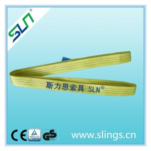 Wholesale polyester fibre: Polyester Flat Webbing Sling EN1492-1 Crane Equipment Lifting Straps