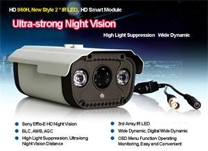 Wholesale led lens: Sony 700TVL Megapixels HD Lens Double Array IR LED CCTV Cameras