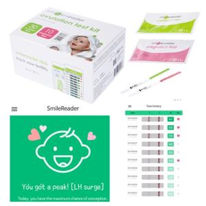 Wholesale testing: SmileReader(App Linkage), Ovulation and Pregnancy Tests Combo Kit, Health Care Product, OTC Product