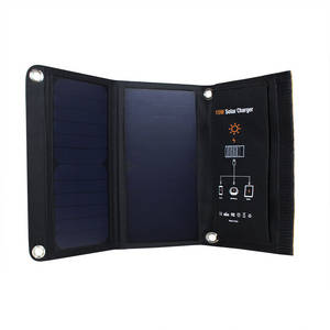 Wholesale Solar Chargers: OEM/ODM Factory PRICE 15W USB 5V Foldable Best Portable Solar Panels Charger 2017