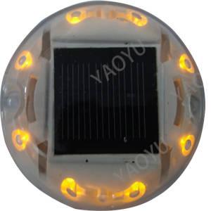 Wholesale road stud: Hot Sale Solar Powered Stud Plastics Safety Cat Eye Road Reflector