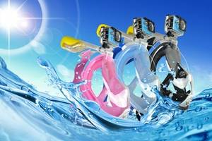 Wholesale diving mask: Full Face Diving Snorkel Mask with Camera Mount