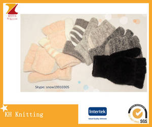 Wholesale Other Gloves & Mittens: Hot Sale Girl Knitting Acrylic 5 Fingers Gloves with Covering,Clamshell/Flip Gloves