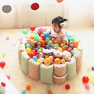 Wholesale kids sofa: SOABE Fabric Ball Pool(Cotton, Red and Green)