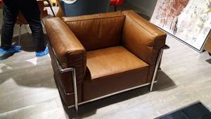Wholesale armchair: Mid Century Furniture Genuine Leather LC3 Grant Comfort Armchair