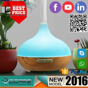 Wholesale ultrasonic aroma diffuser: SOICARE 300ml Colorful Lights Ultrasonic Aroma Essential Oil Diffuser