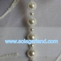 10 Yard/Roll ABS Plastic Pearl Beaded Roll Chain Ribbon