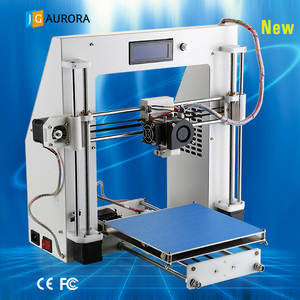 Wholesale Printing Machinery: JGAURORA DIY Metal Frame 3D Printer Kit Easy Operation LCD Screen Shenzhen Factory Direct Sale