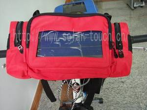 Wholesale small solar cells: Solar  Bicycle Bag-STD005