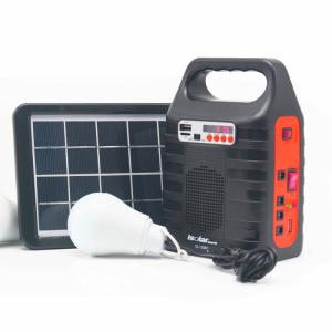 Wholesale solar emergency light: Off-Grid Solar Home System Portable Solar Panel Power System with FM Radio MP3 Player
