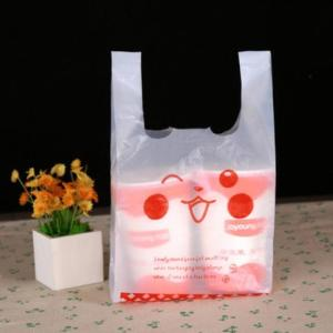 Wholesale business bag: Virgin LDPE/HDPE T-shirt Plastic Bag for Business