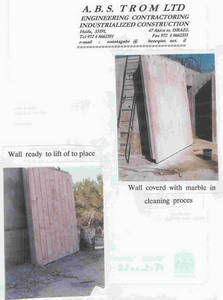Wholesale Industrial Design: SONNTAG  SYSTEM-PRECAST  WALLS-MARBLE FACING