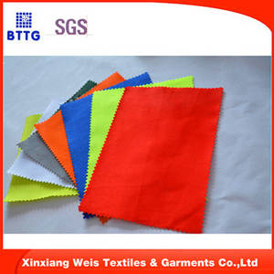 Wholesale twill workwear woven fabric: EN11612 Cotton/Nylon Flame Retardant  FR Fabrics