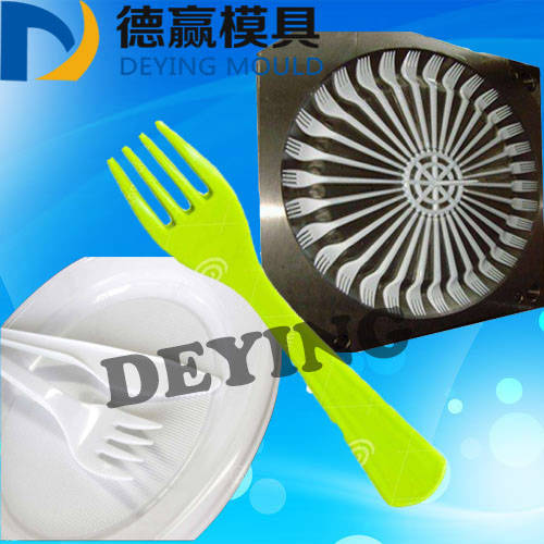 Sell plastic injection mould for cutlery fork tableware fork mold