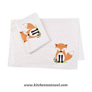 Wholesale towel: 100% Cotton Plain Weave Screen Printed Tea Towels