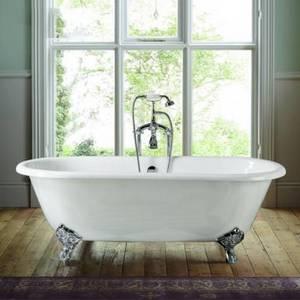 Wholesale cast iron clawfoot bathtub: 66''  Freestanding Double Ended Cast Iron  Bathtub