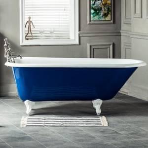 Wholesale claw feet bathtub: Freestanding Roll Top Cast Iron Bathtub with Claw Feet NH- 1006
