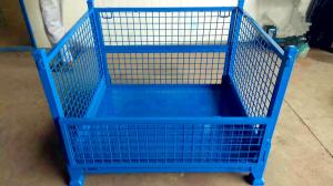 Wholesale steel cage: Cargo Storage Foldable Steel Pallet Box Cage Stillage