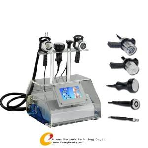 Wholesale multifunction facial machine: AT-1216 5in1 Ultrasonic Slimming Machine, Radio Frequency Weight Loss Machine