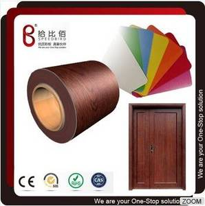 Wholesale chalk board: Wood Grain Color PVC Coated Steel Plate for Interior Door Panel