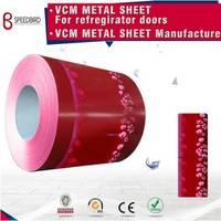 Color Pcm Vcm Metal Steel Sheet for Refregirator Doors