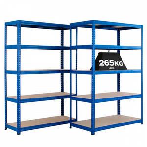 Wholesale storage shelve: 5 Tier Steel Metal Boltless Storage Shelving Racks