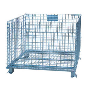Wholesale warehouse cage: Warehouse Stackable Wire Mesh Metal Storage Pallet Cage