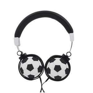 Wholesale football: Cartoon Football Shape Children Headset Wired Headphone