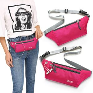 Wholesale sport bag: Sports Waist Bag with Zipper Pouch for Earphone and Small Accessories
