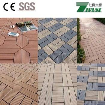 Sell Outdoor cheap WPC DIY interlocking composite deck tiles/cheap wood composit