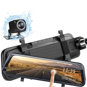 Wholesale car reversing sensor: Dash Cam 1080P Mirror 10 Full HD Touch Streaming Dual Lens RearView Night Vision