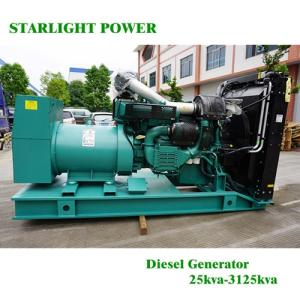 Wholesale electric governor: 500kw/625kVA Volvo Diesel Power Generators Factory Direct Supply