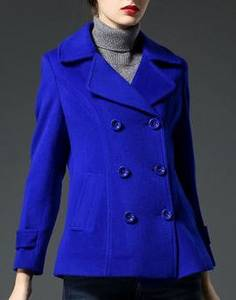 Wholesale women coat: Women's Cashmere Pea Coat