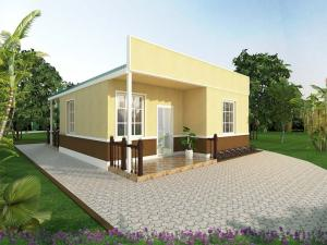 Wholesale housing: 3E Prefab House-two Bedrooms Energy Conservation, Environmental Protection and Easy Assembled House