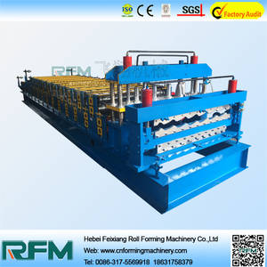 Wholesale hebei: hebei machine manufacturer double layer roll forming machine equipment from china for the small business