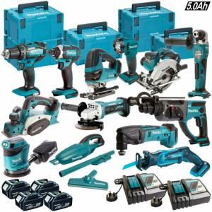Wholesale metal clamp: Makita 18V Li-ion 13 Piece Monster Kit with 4 X 5.0AH Batteries, Charger & Case