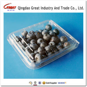 Wholesale clamshell: Disposable Clear Blister Clamshell Plastic Food and Fruit Packaging Box 125 Gram