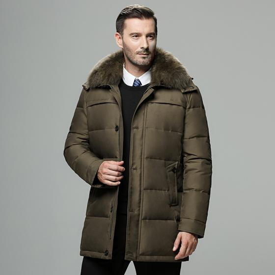 Sell Stock lot Men long coat with thick padded with hoody