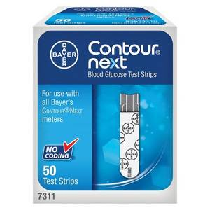 Wholesale glucose test strips: Bayer Contour Next Blood Glucose Test Strips 50ct