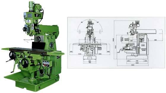 Horizontal Milling Machine >> Turret Type Vertical Horizontal Milling Machine Id 508604