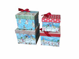 Wholesale lid box: Christmas Gift Box with Lift Off Lid