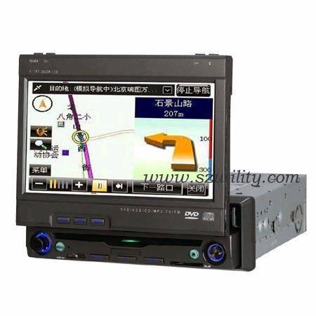 One Din in Dash Car DVD TV,Bluetooth,GPS Car Navigation