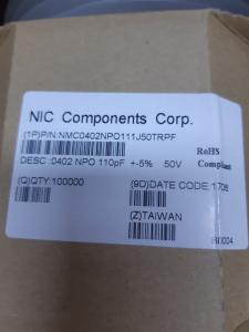 Wholesale nmc: Nmc0402npo111j50trpf