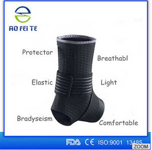 Wholesale sports braces: Alibaba Express Black Elastic Wrap ANKLE Foot Protection Brace Guard Sports Support Breathable Gym